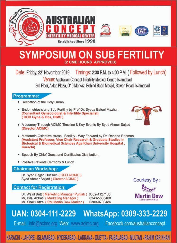 One Day Symposium on Sub-Fertility at ACIMC Karachi